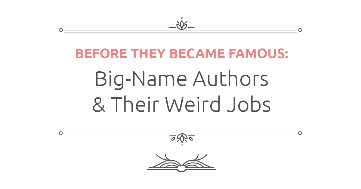 Big-name authors and their weird jobs