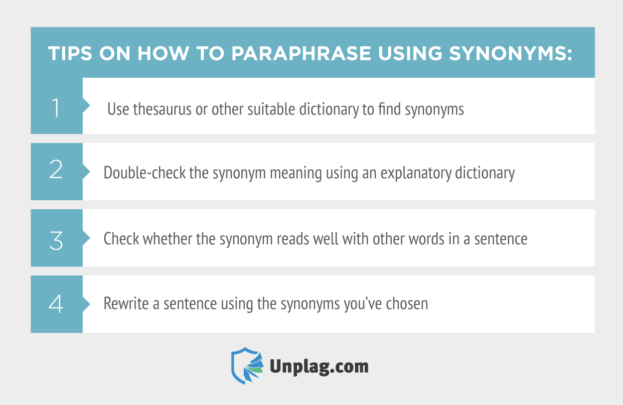 How to Paraphrase Using Synonyms: Practical Tips