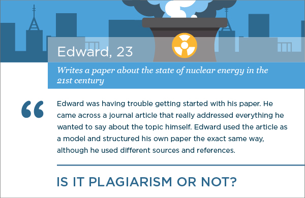 Plagiarism Scenarios: A Journal Article Has Been Used as a Model
