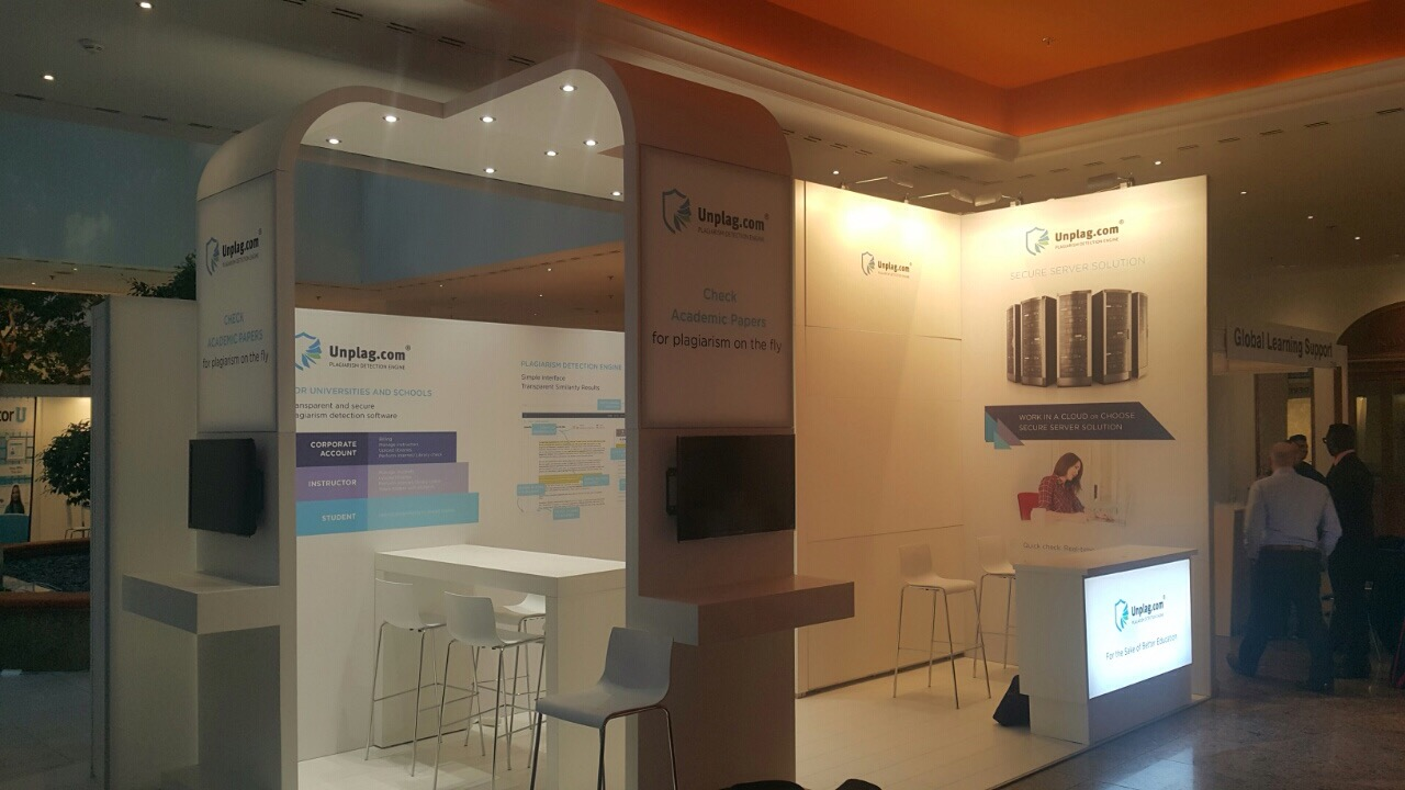 Unplag Booth at OEB 2015
