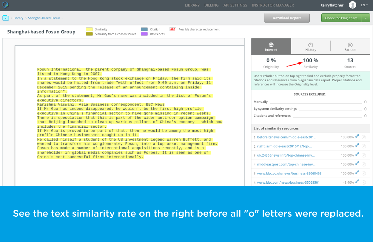 text similarity rate