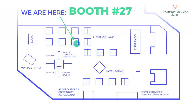 Instructure Con 2019 Map and Unicheck's Booth