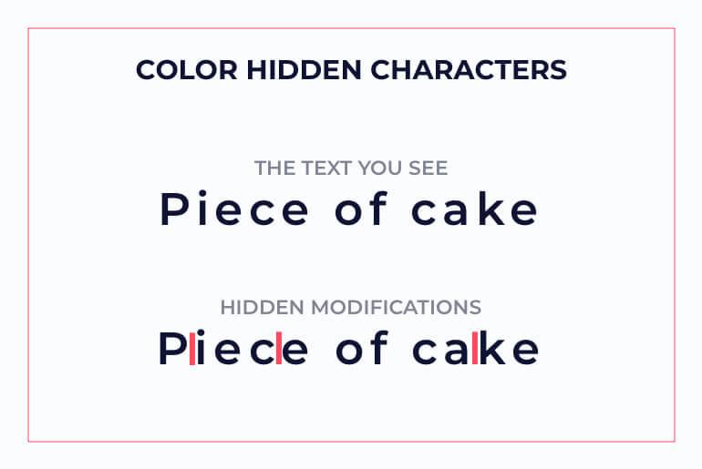 color-hidden text