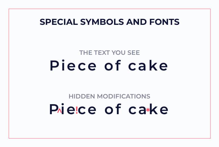 special symbols and fonts