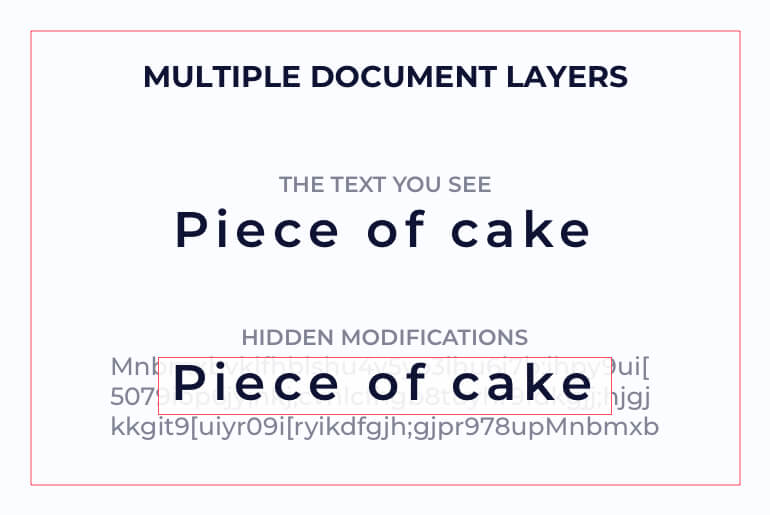 multiple layers in document