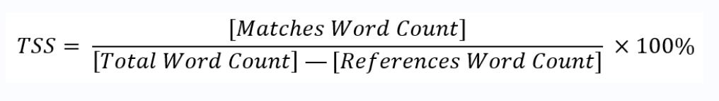 Similarity Score Formula